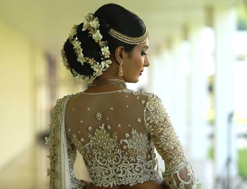 Dont Know What I Love More The Hair Or Saree Blouse Wedding