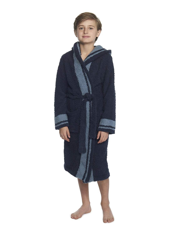 Cozychic Youth Striped Robe - Indigo/Dusk Stripe - CM188H27ZRD | Kids robes,  Striped robe, Boys and girls clothes