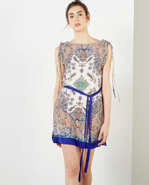 95a015a90d Vestido de mujer Sfera corto con estampado pañuelo | El corte Ingles ...