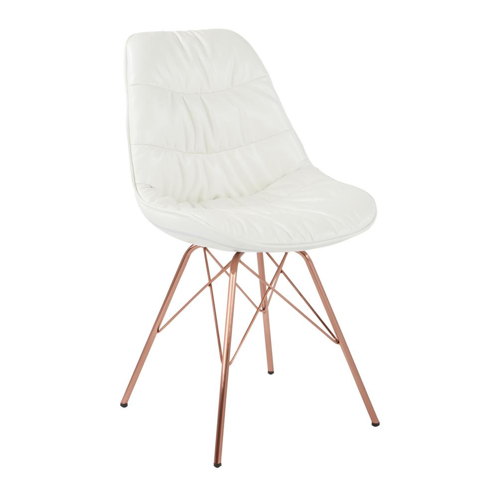 Strange Osp Home Furnishings Langdon White Faux Leather Chair With Ibusinesslaw Wood Chair Design Ideas Ibusinesslaworg