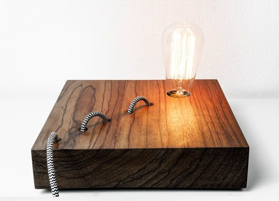 Ovangkol Wooden Lamp Mod Nessy 007 Table Lamp By Telltaledesign 180 00 Luminaire Bois Lampe De Bureau Led Led Diy