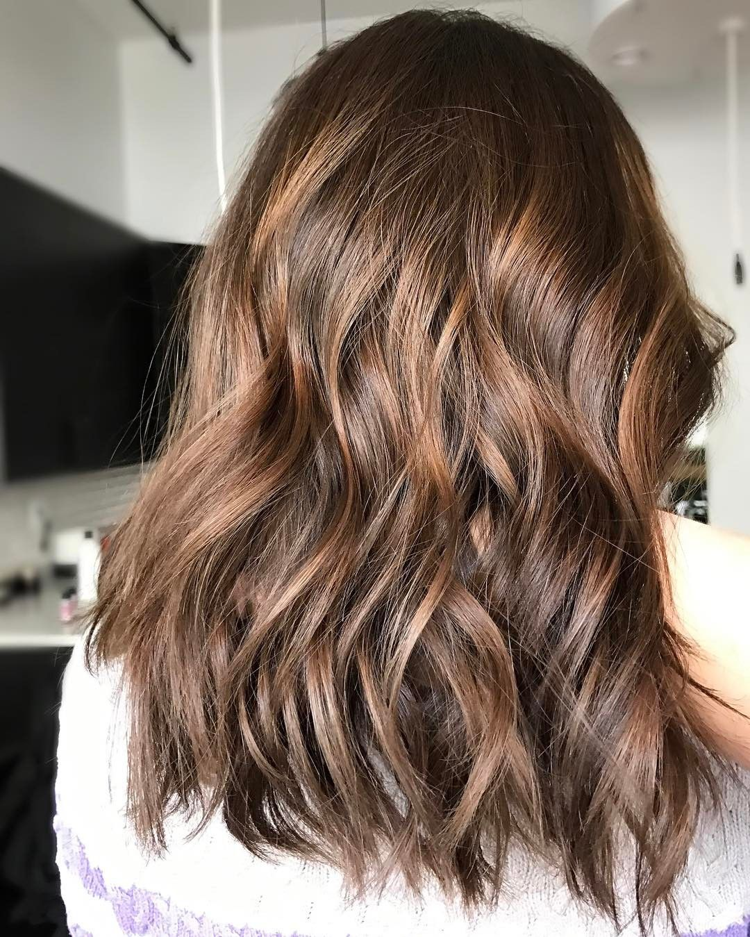 Anna Is One Of My Very First Clients When We Met She Had Porous Blonde Hair With Dark Brown Salon Col Toner For Brown Hair Blue Brown Hair Honey Hair Color