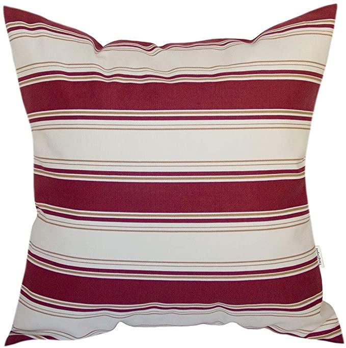 Amazonsmile Tangdepot Decorative Handmade Stripe Cotton Throw Pillow Cover Pillow Sham Euro Sham Indoor Ou In 2020 Throw Pillows Pillows Cotton Throw Pillow Covers