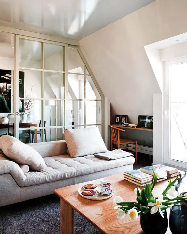 Un appartement sous combles à San Sebastian   Home   Pinterest ...