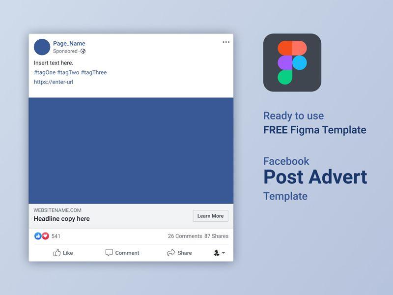 Facebook Ad Mockup For Figma In 2021 Facebook Ad Mockup Ads Figma