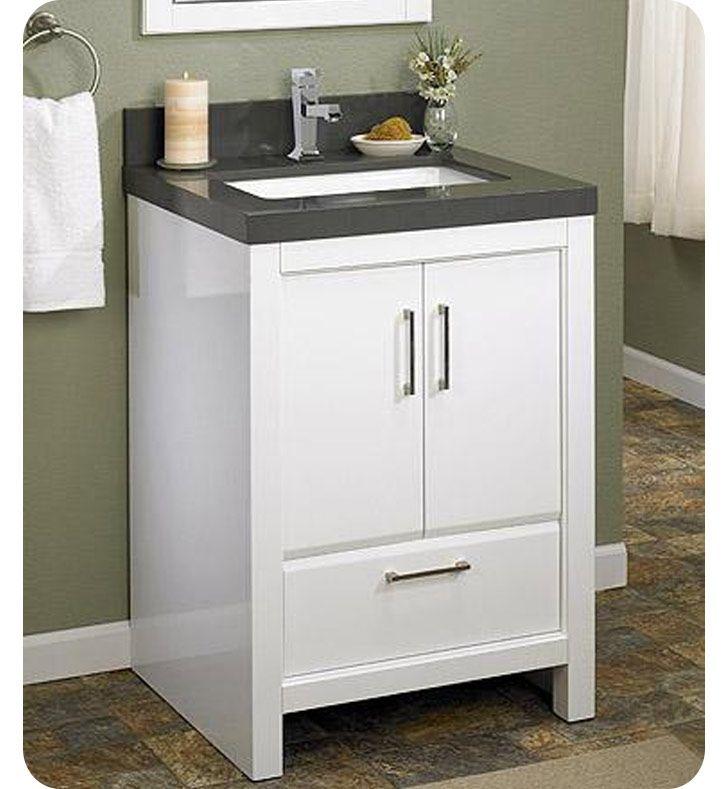 "Fairmont Designs Belleair Beach 24"" Contemporary Bathroom Vanity - Glossy White"