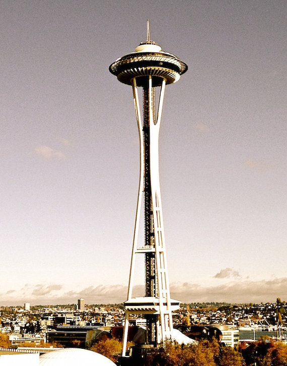 Space Needle Iconic Seattle Landmarks by IWishICouldStayPhoto