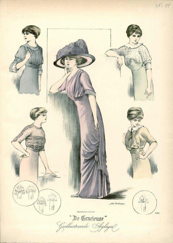 Uit Juni 1910 | 1910s\' Edwardian Fashions | Pinterest