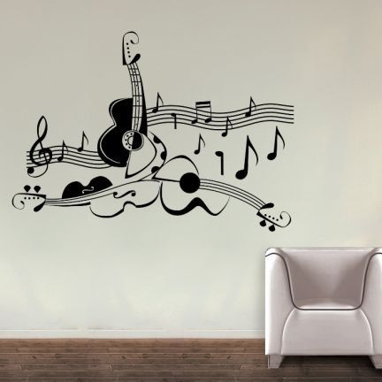 Love For Guitar Wall Decal By Colorfulwalls On Etsy Music Wall