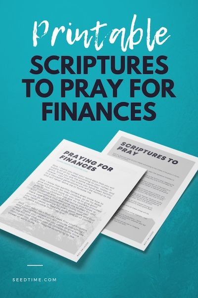 Prayer for finances (Printable PDF)