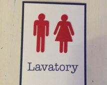 Lavatory Sign Vintage Airplane Party Decorations Vintage Airplane Party Theme Vintage Airplane Party Airplane Party Theme Airplane Party Decorations