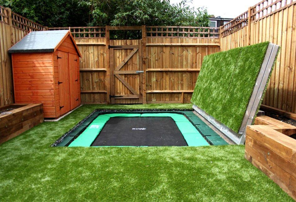Artificial Grass Surround For Long Sunken Trampoline Sunken Trampoline Big Backyard Backyard