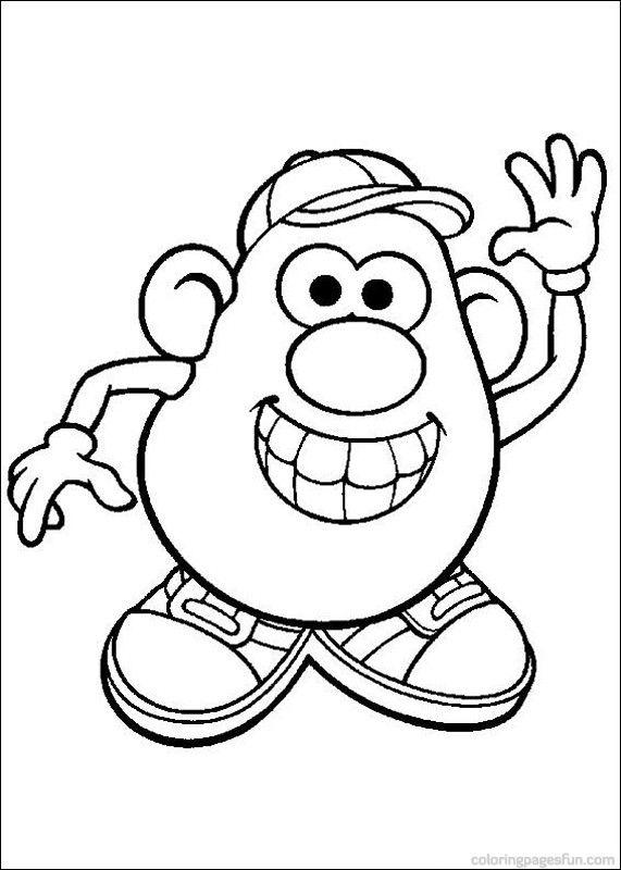 Mr. Potato Head Coloring Pages 41 | Proyectos que intentar ...