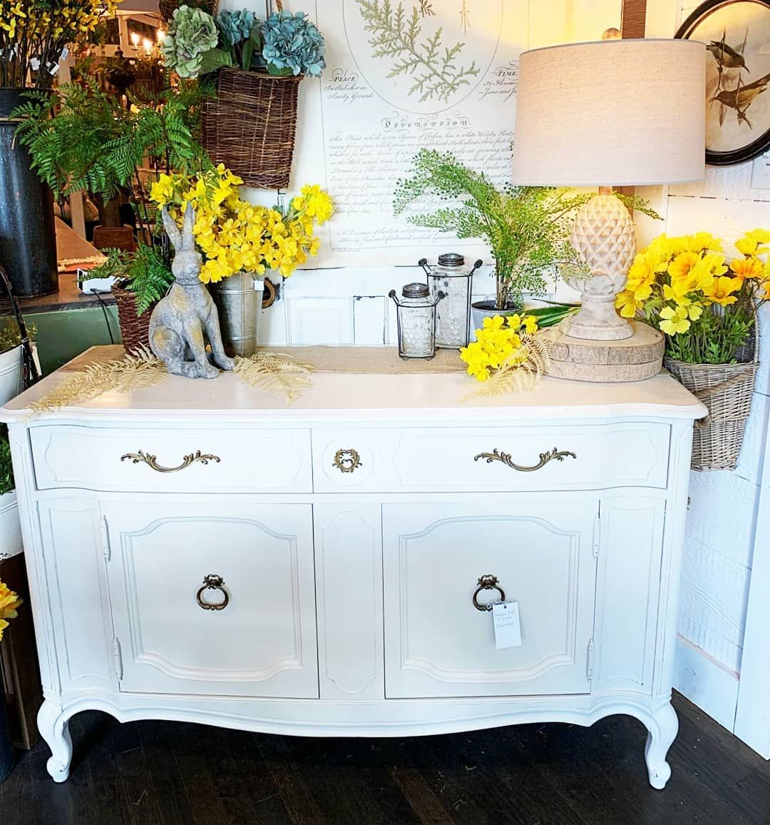 White Thomasville Buffet painted with Amy Howard One Step
