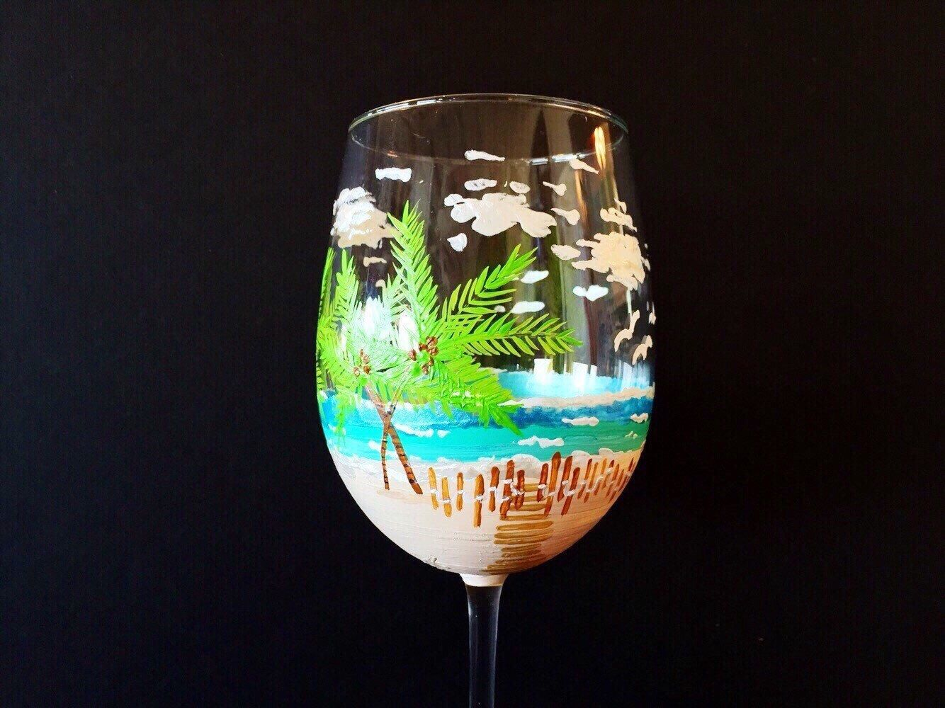A personal favorite from my Etsy shop https://www.etsy.com/listing/265845274/beach-wedding-theme-hand-painted-gift