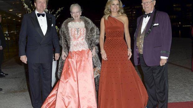 Margrethe, prins Henrik, Maxima en Willem-Alexander