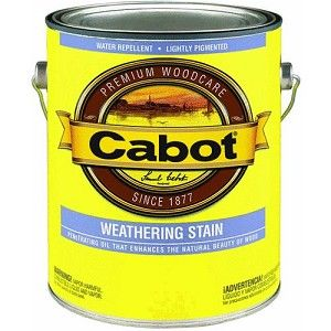 Cabot Silver Gray Weathering Stain Staining Deck Exterior Stain Staining Wood