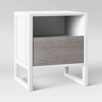 Outstanding Fairglen Two Tone End Table Natural White Project 62 In Short Links Chair Design For Home Short Linksinfo