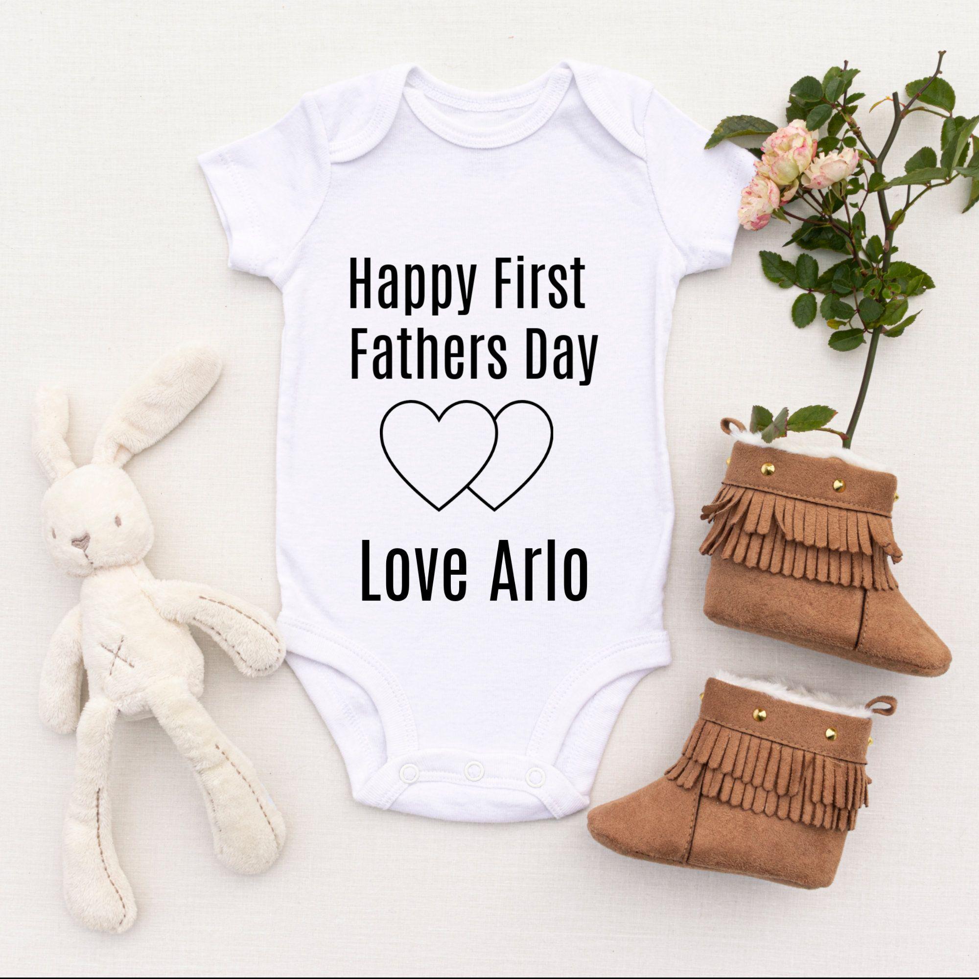 Happy Fathers Day Daddy! Baby Grow  Baby Bodysuit