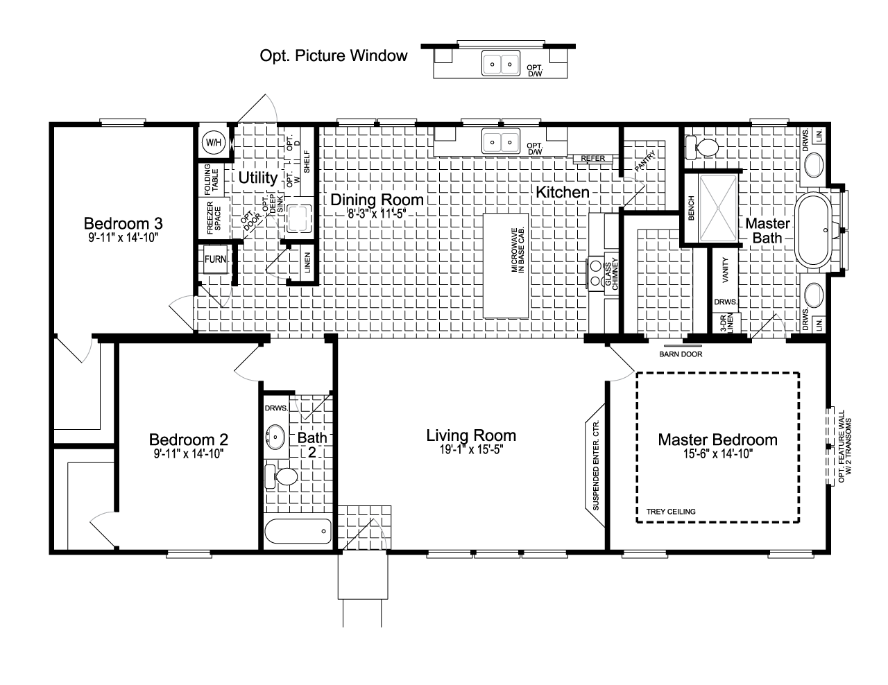 Single Wide Mobile Home Floor Plans 2 Bedroom Palm Harbors Urban Homestead Ft32563c Is A Manufactured Home Of