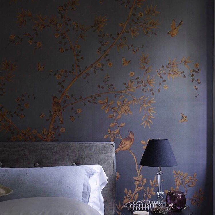 Paradiso In Havana Exquisite Wallpaper With Gold Painted