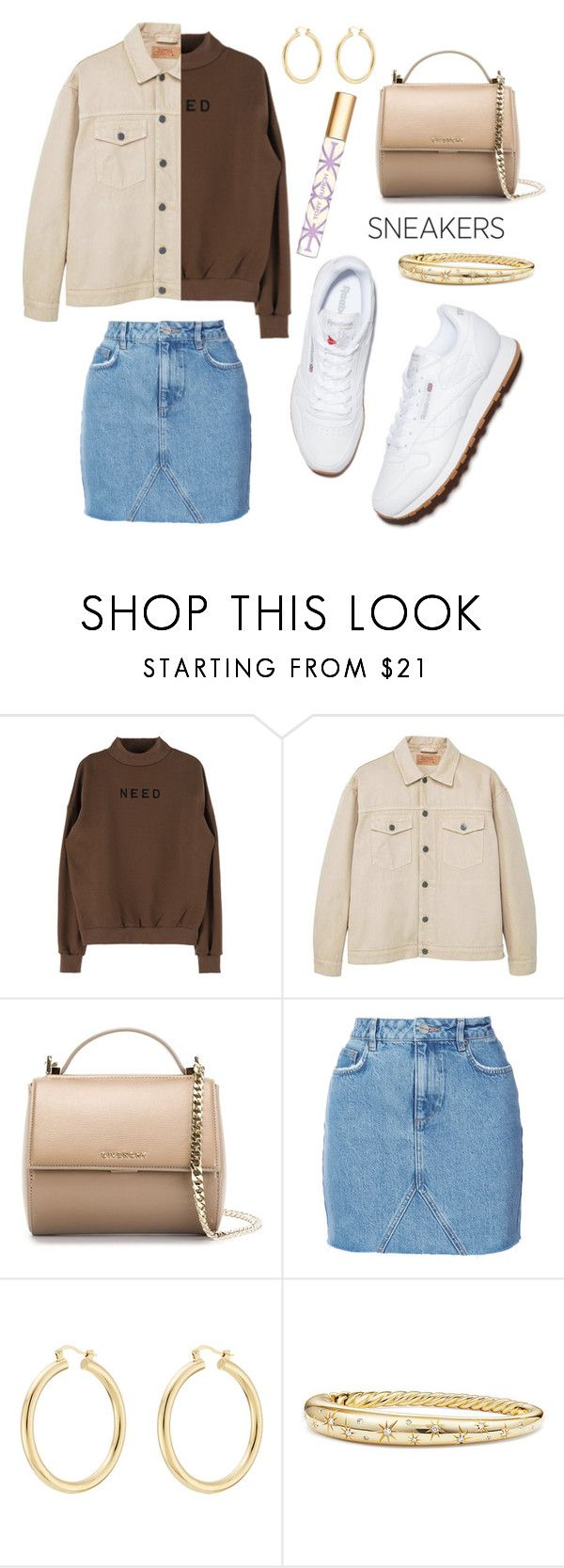"""""""white sneakers"""" by kyalouise on Polyvore featuring MANGO, Givenchy, Anine Bing, Isabel Marant, David Yurman, Tory Burch and whitesneakers"""