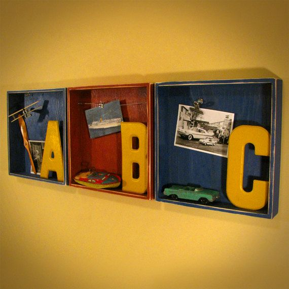 SALE Kids Room Decor ABC Boxes 12x12 Wall or Shelf by j3decor ...