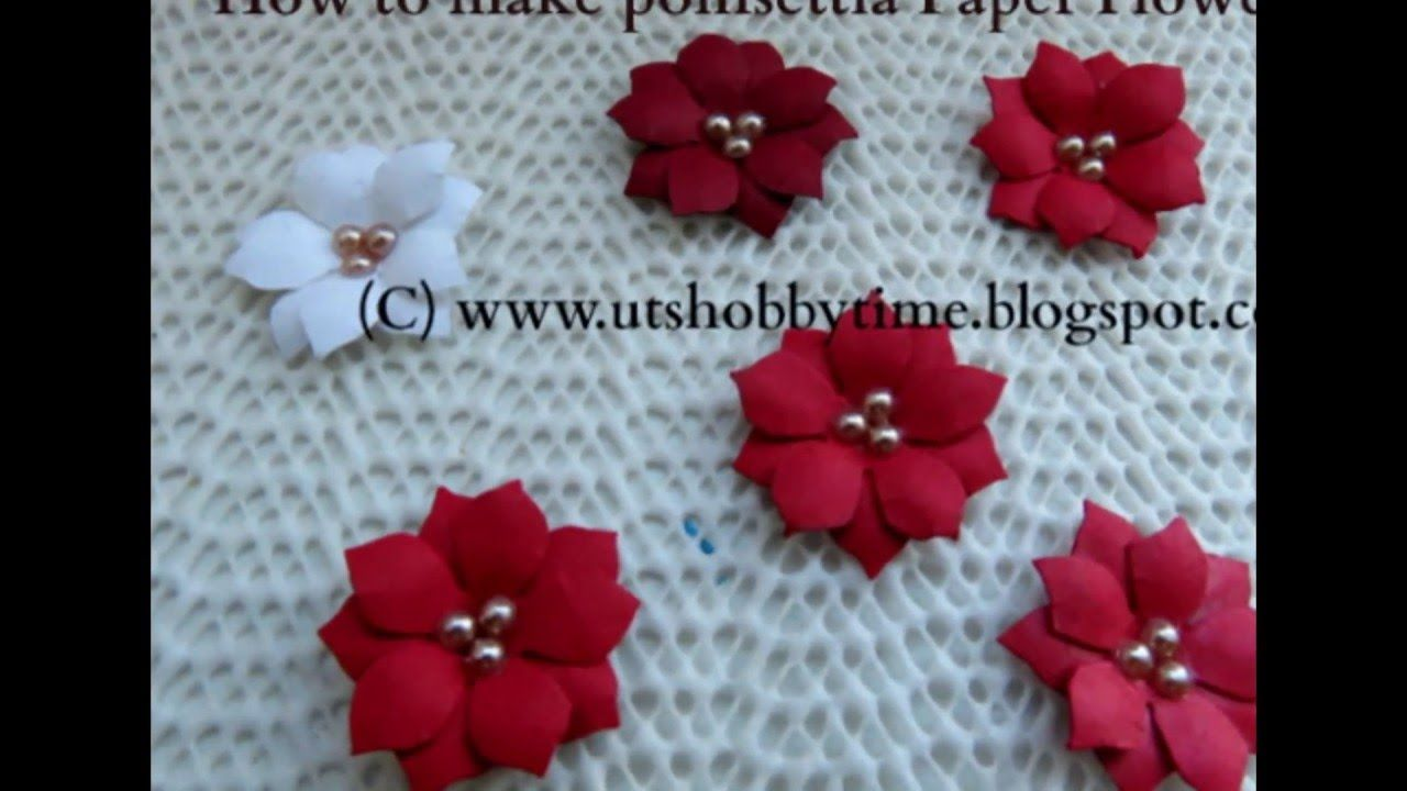 How To Make Poinsettia Paper Flower Diy Paper Flower Tutorial