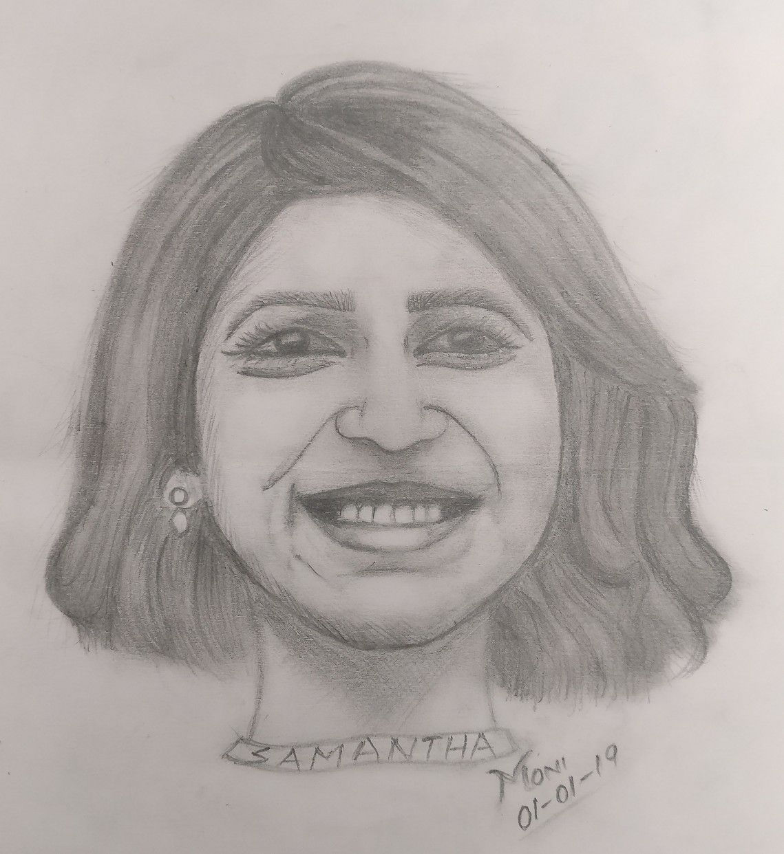 Samantha ruth prabhu pencil sketch artist in 2019 sketches