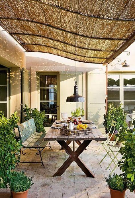 comedores rústicos al aire libre | Decoración de interiores ...