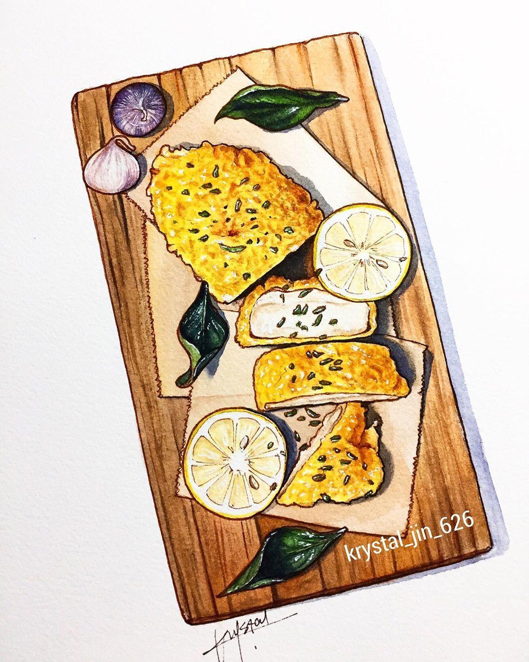 How To Draw Fried Chicken : fried, chicken, Madam, Krystal_jin_626, Recipe, Design,, Illustration, Sketch
