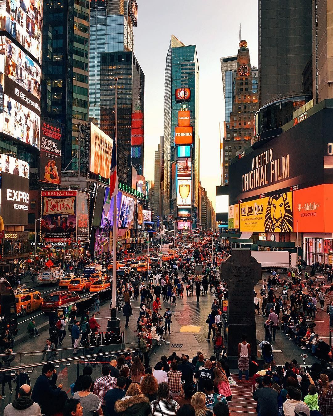 An Amazing Shot Of Times Square! #travel #travelling