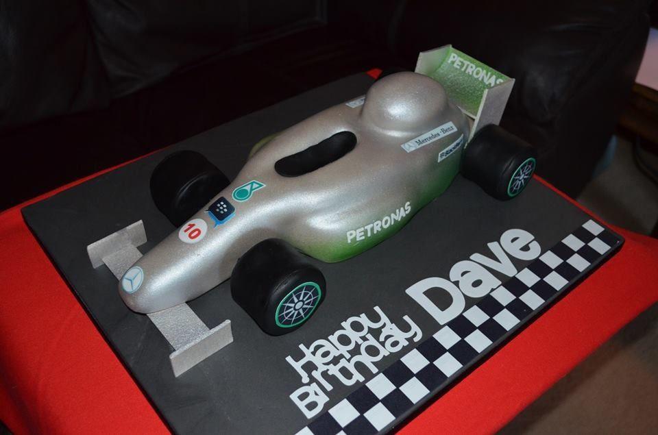 F1 car for the 85th birthday celebrations of a Hamilton fan