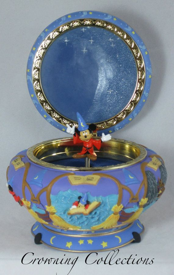 Disney Fantasia Sorcerer Mickey Mouse Music Box Round Jewelry Box ...