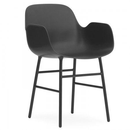 Form eetkamerstoel Normann Copenhagen armleuning zwart | Musthaves verzendt gratis