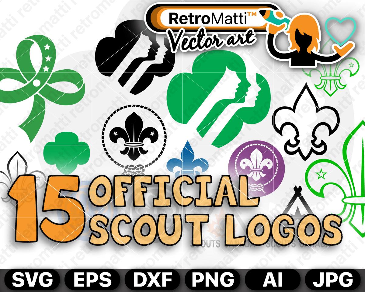 15 Official Girl Scout & Boy Scout Vector Logos Girl