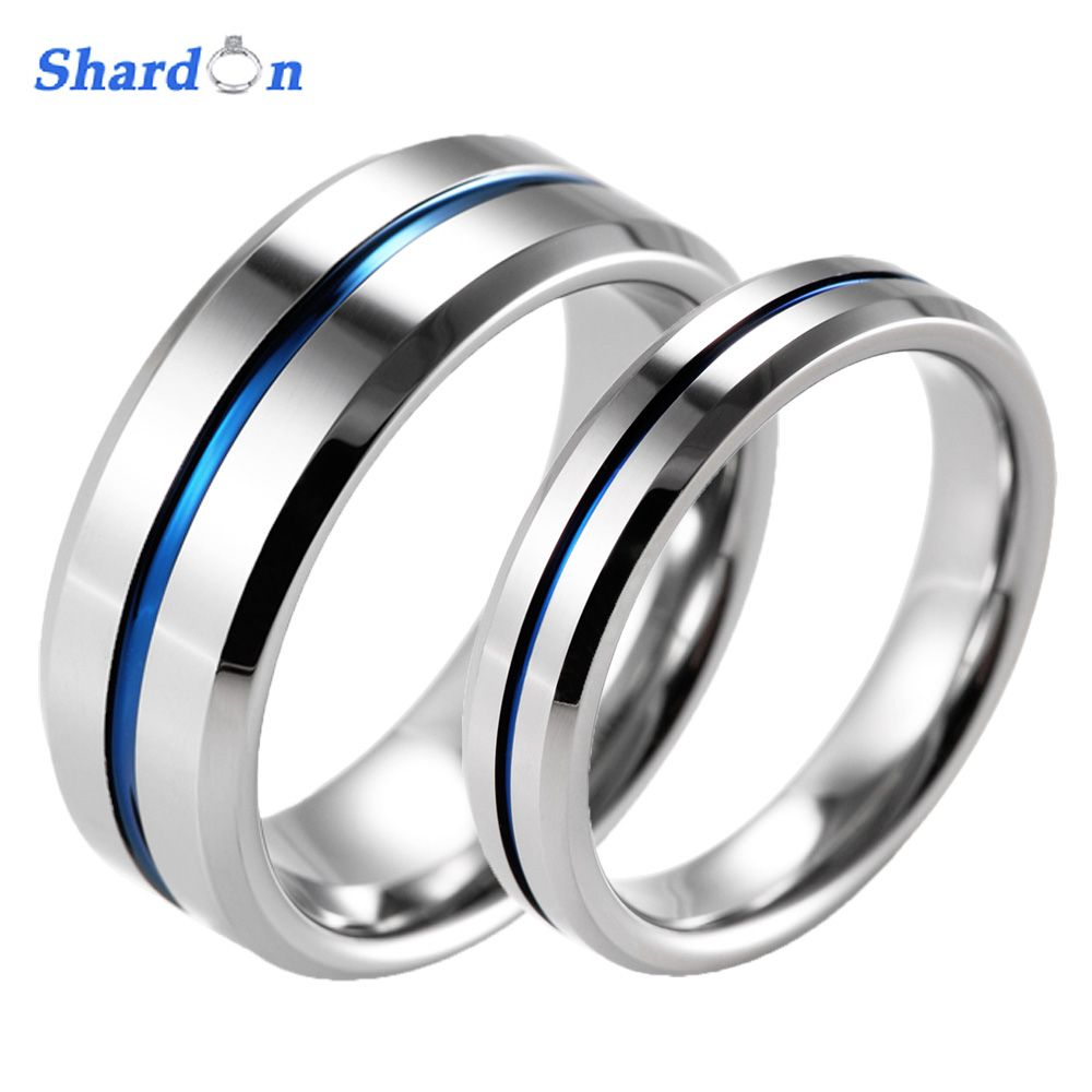compare prices shardon lovers beveled tungsten carbide high polished ...