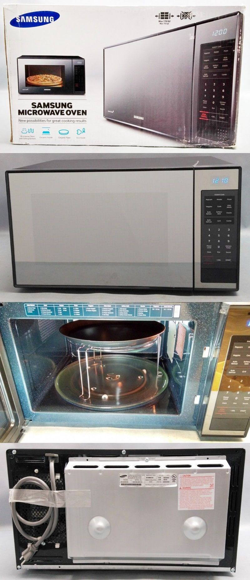 Microwave Ovens 150140 Samsung Mg14h3020cm 1 4 Cu Ft Countertop