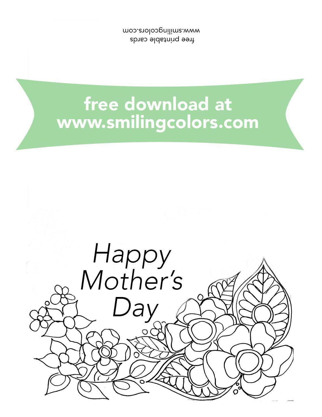 Mothers Day Coloring Cards Free To Print And Color Now Mothers Day Coloring Cards Free Mothers Day Cards Mothers Day Cards