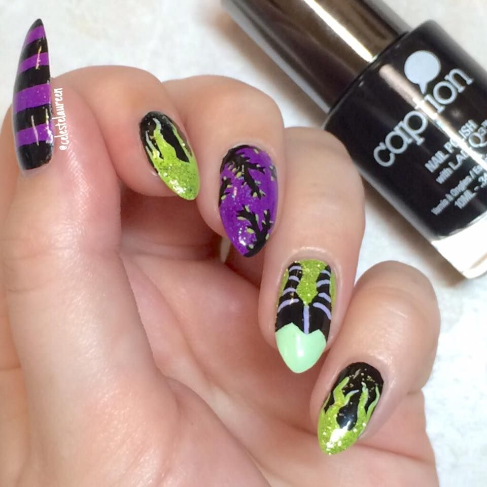 Disney Maleficent nails | My Own Nail Art | Pinterest | Maleficent ...