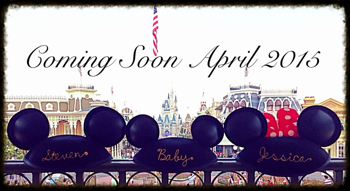 Disney pregnancy announcement for your little prince or princess. Hats can bought and personalized at the Magic Kingdom hat shop and the photo was taken on the second floor of the train station.