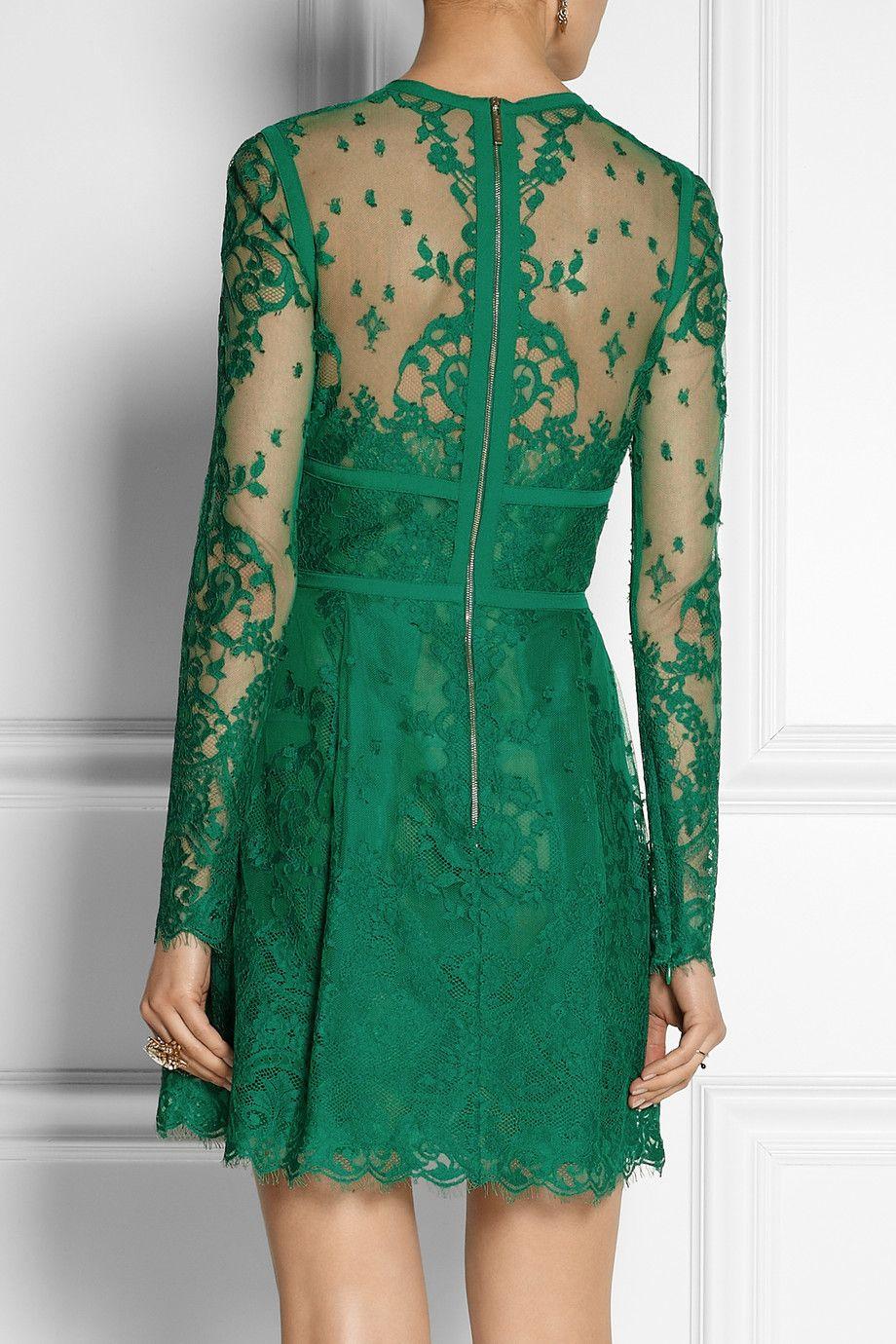 Elie Saab   Lace mini dress   NET-A-PORTER.COM   Elie Saab ...