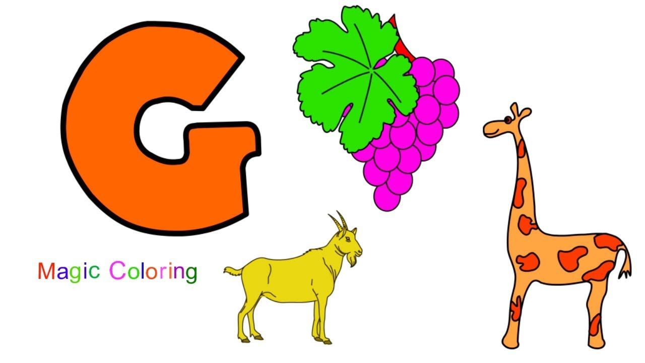 Letter G Learn Alphabet Abc For Toddlers Drawing Abc Coloring Educatio Abc Coloring Toddler Drawing Learning The Alphabet