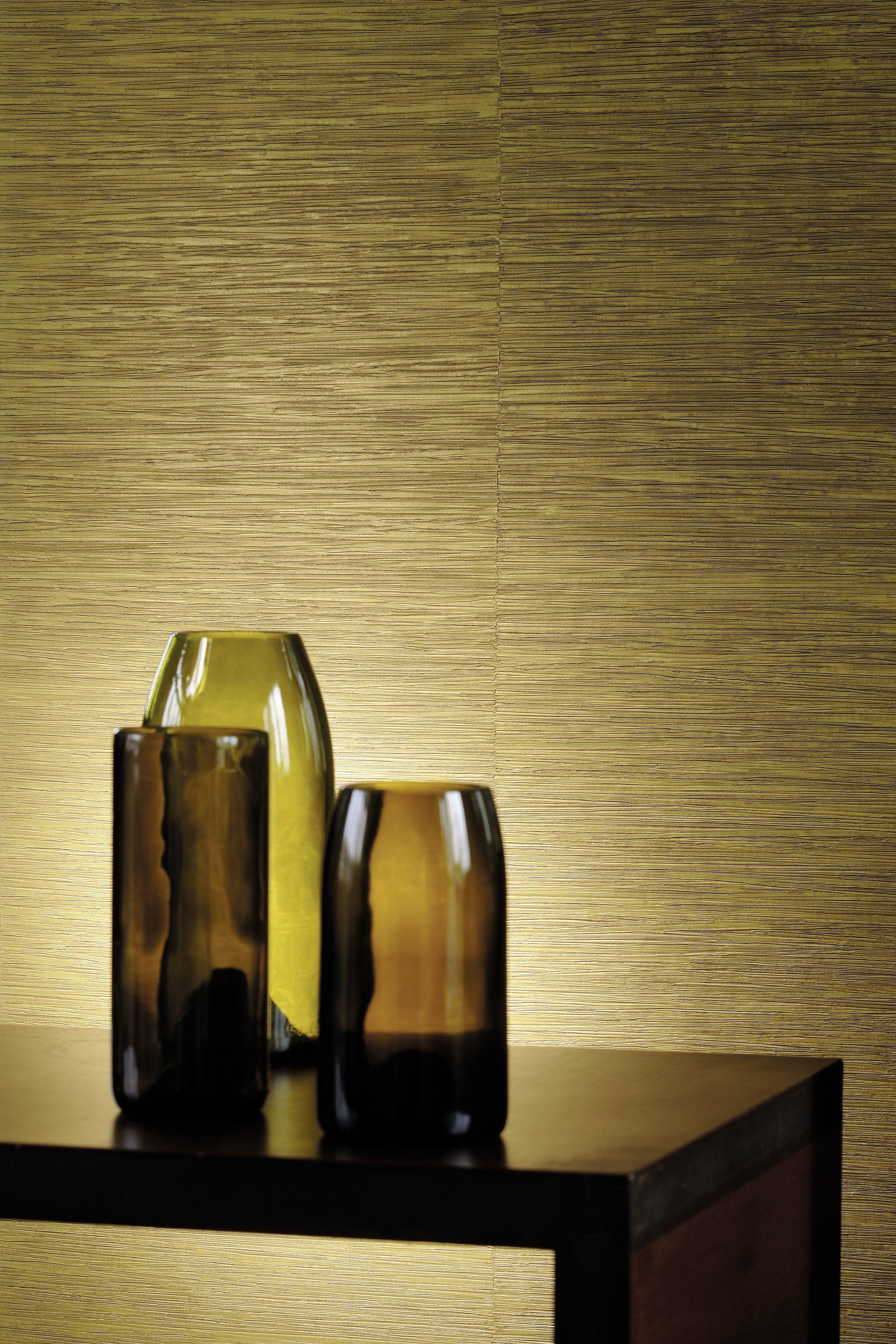 Azzurro vinyl wallpaper. A woven, single colour grasspaper with an ...