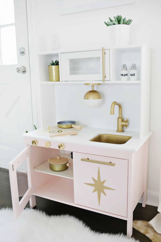 MidCentury Modern Ikea Play Kitchen Hack! A Beautiful
