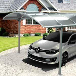 Carport aluminium 1 voiture, 14,80m² L305xP485, H 250cm A monter soi-même