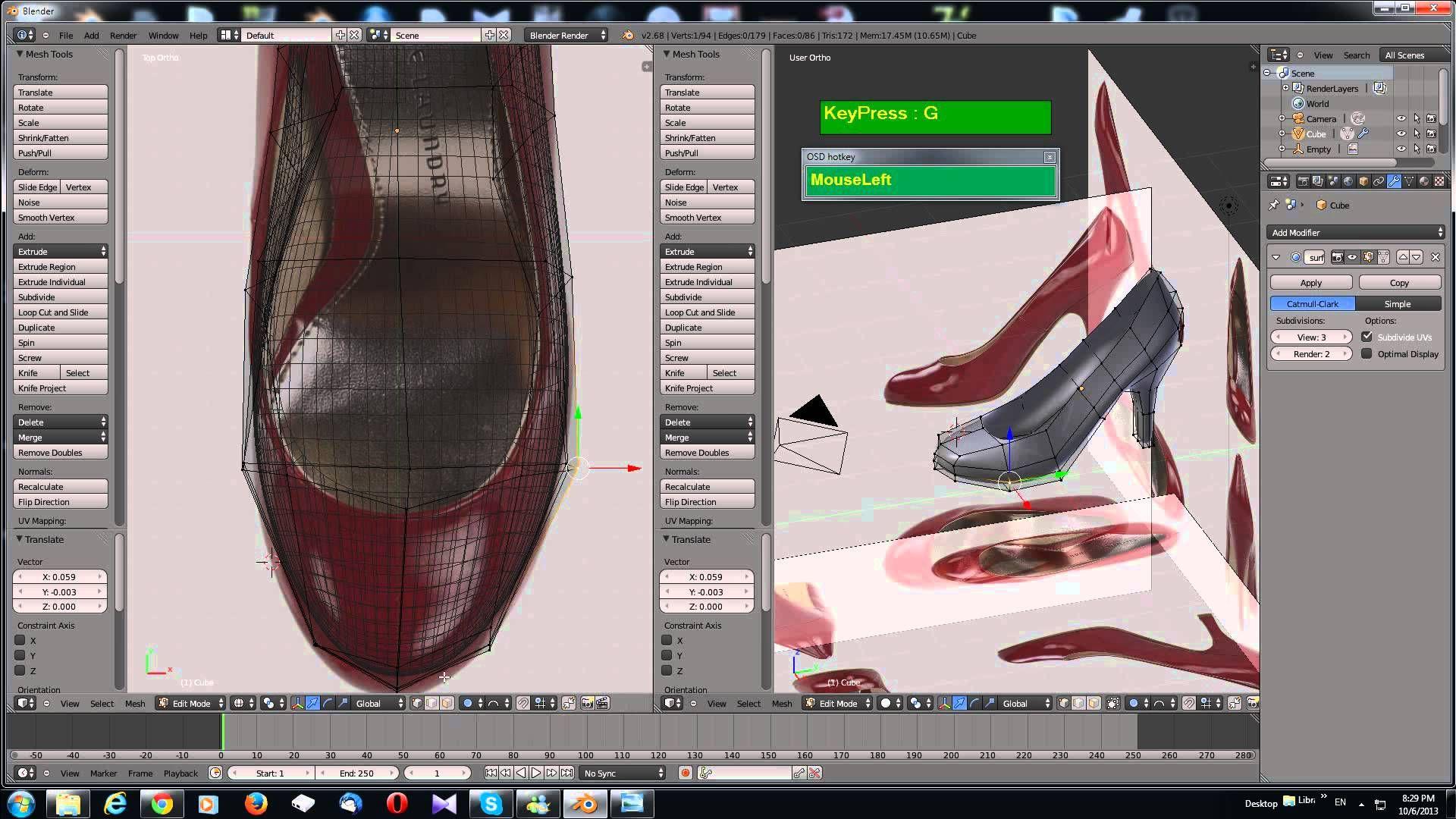 Blender 3d Modeling Tutorial High Heels 3d Modeling Tutorial Blender Tutorial Blender 3d