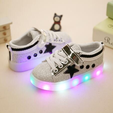 0e586e4684297 children shoes with light 2016 autumn baby boys girls LED light shoes  chaussure enfant kids fashion breathable boys sneakers