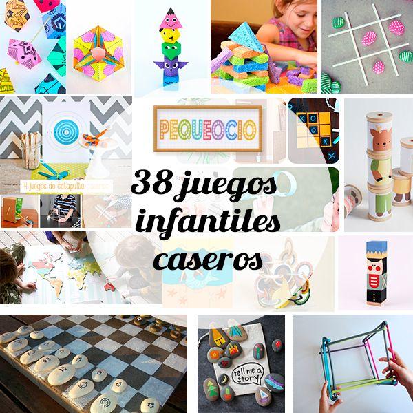 38 Juegos Infantiles Caseros Juegos Caseros Pinterest Juegos