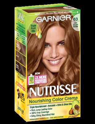 Nutrisse Nourishing Color Creme Light Golden Brown 63 Garnier